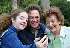 Fotografo del telefono della macchina fotografica Fotografie Stock