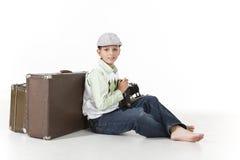 Fotografo del viaggiatore di tempo Fotografia Stock Libera da Diritti