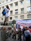 FOTOGRAFO DELL'ALLIEVO DELLA PARATA DI LIBERAZIONE Fotografia Stock Libera da Diritti