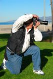 Fotografo dell'uomo fotografie stock