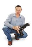 Fotografo dell'uomo Immagini Stock Libere da Diritti