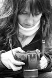 Fotografo della donna Immagine Stock Libera da Diritti