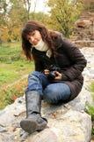 Fotografo della donna Fotografie Stock