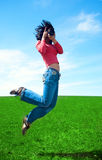 Fotografo della donna Immagini Stock Libere da Diritti