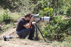 Fotografo della fauna selvatica Fotografia Stock Libera da Diritti