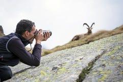 Fotografo della fauna selvatica Fotografie Stock Libere da Diritti