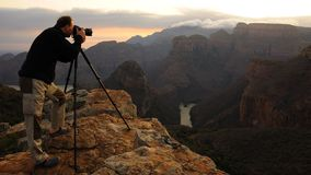 Fotografo della montagna Fotografia Stock