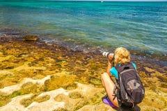 Fotografo della natura in Hawai immagine stock