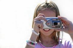Fotografo della ragazza Fotografie Stock