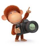 fotografo della scimmia 3d Immagine Stock Libera da Diritti