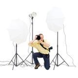 Fotografo dello studio Fotografia Stock