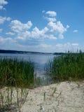 Fotografo di bellezza dell'affare del sole di estate del mare del lago Fotografia Stock