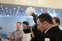 Fotografo di eventi Fotografia Stock Libera da Diritti