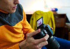 Fotografo e macchina fotografica Immagine Stock Libera da Diritti