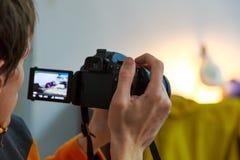 Fotografo e macchina fotografica Fotografia Stock Libera da Diritti