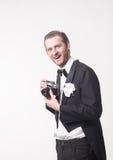 Fotografo e macchina fotografica Fotografia Stock