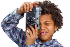 Fotografo entusiasta Immagine Stock