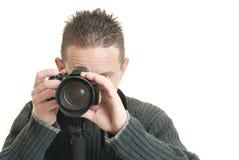 Fotografo felice fotografia stock