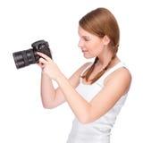 Fotografo femminile Immagini Stock
