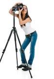 Fotografo femminile Fotografie Stock Libere da Diritti