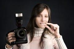 Fotografo grazioso fotografia stock libera da diritti