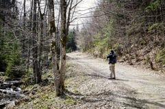 Fotografo Hiking Fotografia Stock