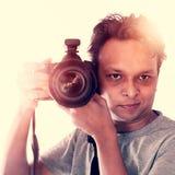 Fotografo indiano creativo Immagine Stock