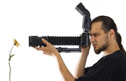 Fotografo a macroistruzione Fotografia Stock Libera da Diritti