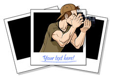 Fotografo nell'azione Fotografia Stock