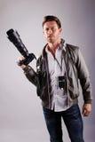 Fotografo nello studio Immagine Stock Libera da Diritti