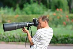 Fotografo professionista Fotografie Stock Libere da Diritti