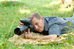 Fotografo professionista Immagine Stock Libera da Diritti