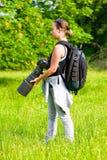 Fotografo professionista esterno Fotografie Stock Libere da Diritti