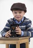 Fotografo sorridente Immagine Stock