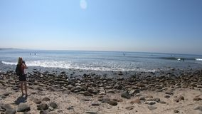 Fotografo in spiaggia di Topanga
