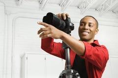 Fotografo in studio. Immagini Stock Libere da Diritti