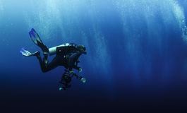 Fotografo subacqueo Fotografia Stock Libera da Diritti