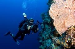 Fotografo subacqueo immagine stock