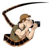 Fotografo sul lavoro Immagini Stock Libere da Diritti