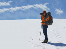 Fotografo sul plateau di Parang Fotografia Stock Libera da Diritti