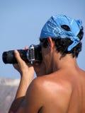 Fotografo sull'esecuzione Fotografia Stock Libera da Diritti