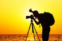 Fotografo sulla spiaggia Fotografia Stock Libera da Diritti