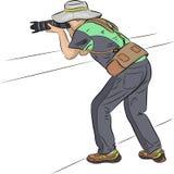 Fotografo in un cappello Immagini Stock Libere da Diritti