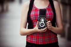 Fotografo urbano dell'annata Immagine Stock Libera da Diritti