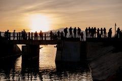 Fotografować wschód słońca, Środkowy Wietnam zdjęcie stock