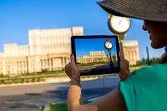 Fotografować parlamentu budynek w Bucharest Zdjęcia Stock