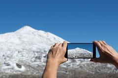 Fotografować powulkanicznego krajobraz Obrazy Stock