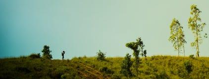 Fotografowie biorą obrazki na wysokich górach Fotografia Royalty Free