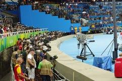 Fotografowie przy Rio2016 olimpiadami Zdjęcie Royalty Free