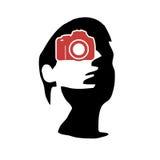 Fotografportföljlogo royaltyfri illustrationer